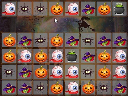 Play Halloween Match 3 Deluxe Now!