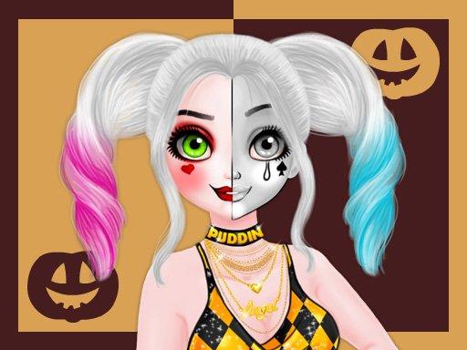 Play Princess Halloween Makeup HalfFaces Tutorial Now!