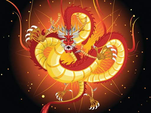 Play Chinese Dragons Coloring Now!