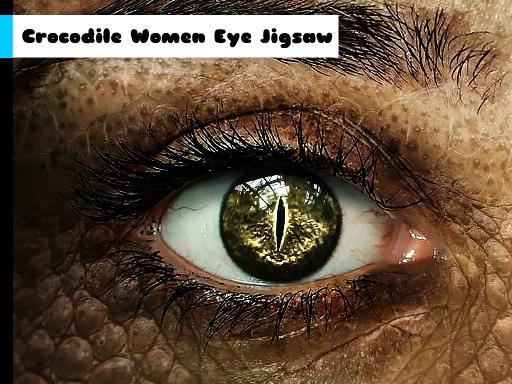 Play Crocodile Women Eye Jigsaw Now!