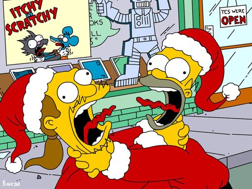 Play Simpsons Christmas Jigsaw Puzzle Now!