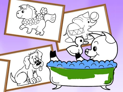 Play Cartoon Coloring for Kids - Animals Now!