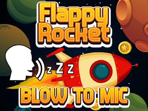 Play Flappy Rocket Playing with Blowing to Mic Now!