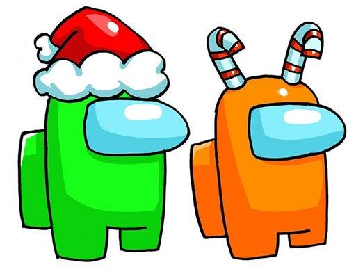 Play Among Us Christmas Coloring Now!