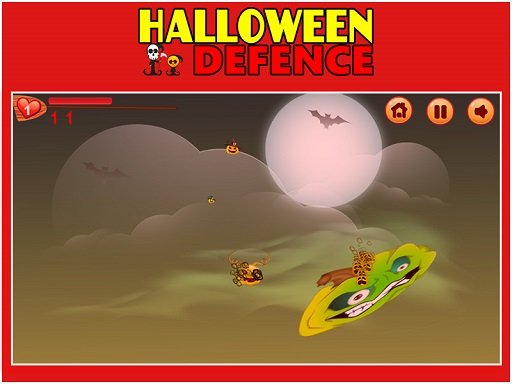Play Halloween Defence 1 Now!