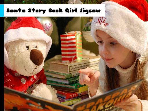 Play Santa Story Book Girl Jigsaw Now!