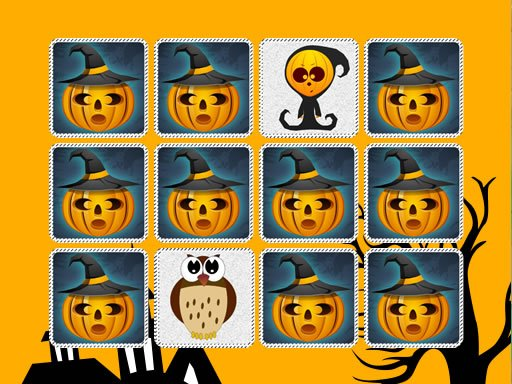 Play Kids Memory Game: Halloween Now!