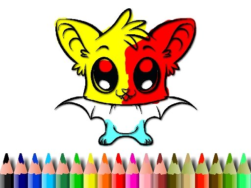 Play Cute Bat Coloring Book Now!