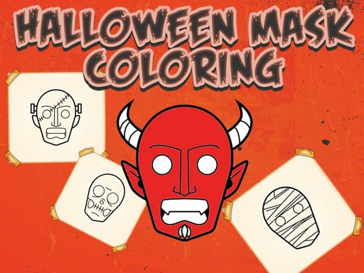 Play Halloween Mask Coloring Book Now!