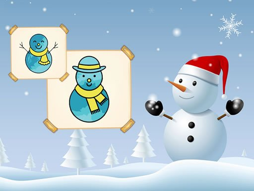 Play Happy Snowman Coloring Now!