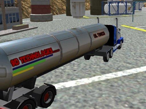 Play Oil Tanker Transporter Truck Now!