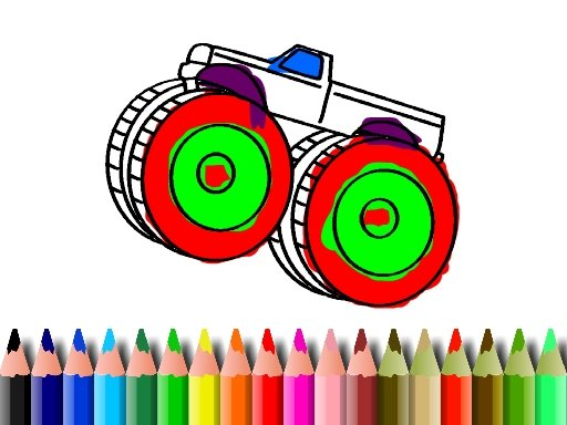 Play BTS Monster Truck Coloring Now!