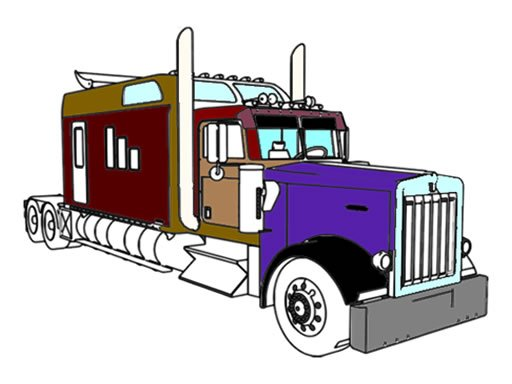 Play American Trucks Coloring Now!
